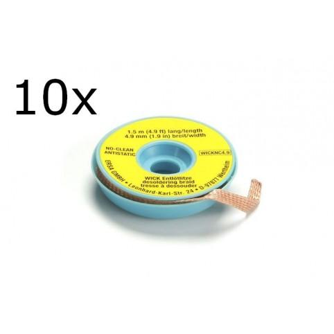 ERSA Entlötlitze 4,9 mm breit 1,5 m lang auf Antistatikspule (10-er Pack)