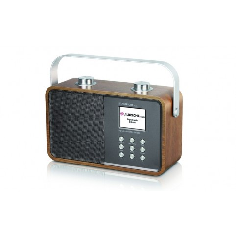Albrecht Radio DR850 DAB + UKW-Radio mit Bluetooth und Farbdisplay