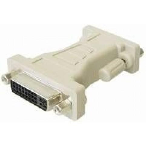 VGA-Adapter, DVI-Kupplung 24 + 5pol. <> Sub D-Stecker 15pol. HD
