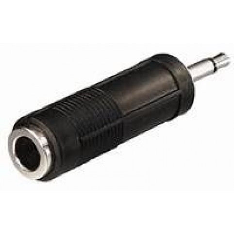 Klinkenadapter 6,3mm Kupplung auf 3,5mm Klinke mono