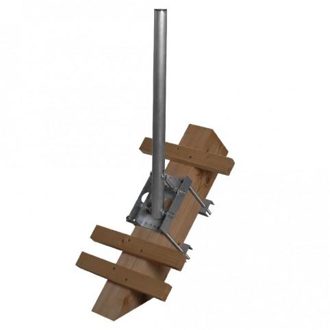 A.S.SAT Alu-Dachsparrenmasthalter inkl. 65 cm Mast für 1 Sparren