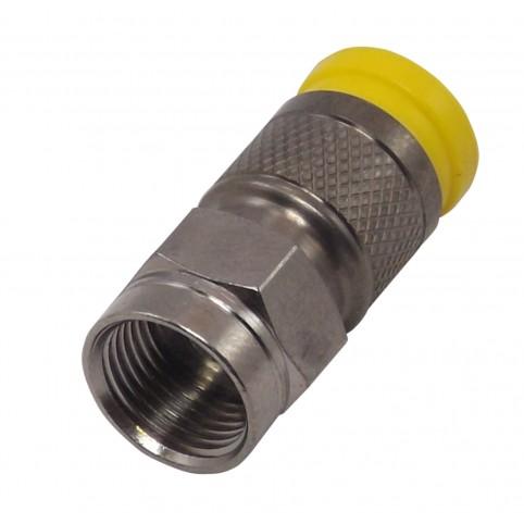 PPC F-Kompressionsstecker gelb für 0,7/2,9 Type