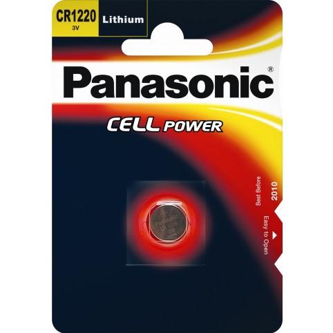 Panasonic CR1220 3V Litium Knopfzelle im Blister