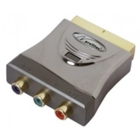 RGB-Adapter HomeCinema Scart-Stecker / 3xCinch-Kupplung