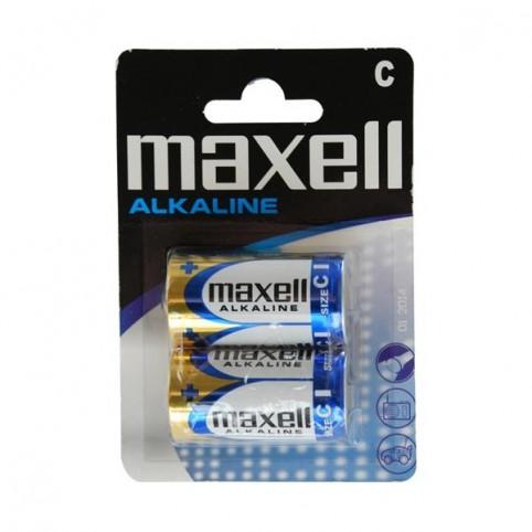 MAXELL Alkaline Batterie LR14 D Baby 2 St. Blister