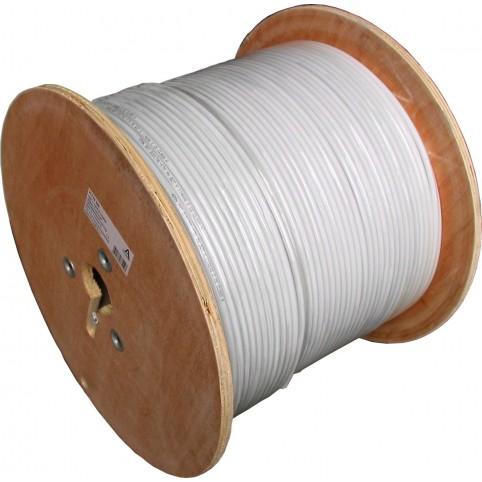 GALLUNOPTIMAL Koaxialkabel 1.02/4.6 Kupfer CCC 3-fach-Schirm 100dB 500m Trommel