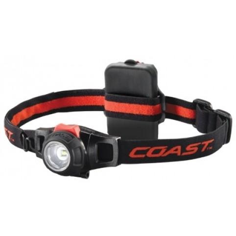 Coast HL8 Fokussierbare Profi-LED-Kopflampe 390/120/25 Lumen wetterfest inkl. Batterien