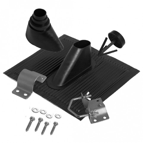 A.S.SAT universal Alu-Dachziegelset für Masten von Ø 60 mm schwarz