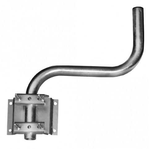 A.S.SAT Wandhalter feuerverzinkter Stahl variabel bis 40cm Wandabstand in S-Form