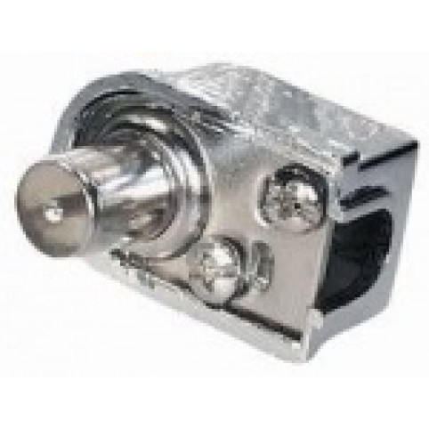 Koax-Winkelstecker, metallisiert, 75dB