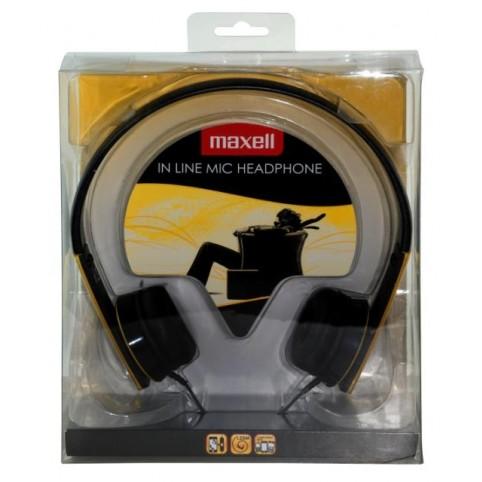 MAXELL HP-MIC Kopfhörer mit Mikrofon, gelb