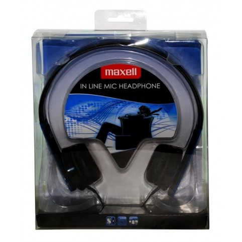 MAXELL HP-MIC Kopfhörer mit Mikrofon, blau