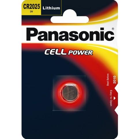 Panasonic CR2025 3V Litium Knopfzelle im Blister