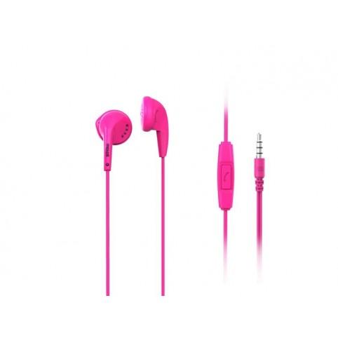 Maxell Stereo Ear Buds + Mic Ohrhörer Freisprechfunktion 3,5mm Klinke pink