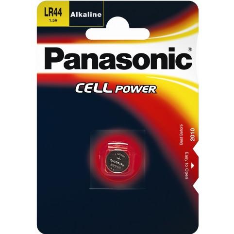 Panasonic LR44 1,5V Alkaline Knopfzelle 1er Bliste