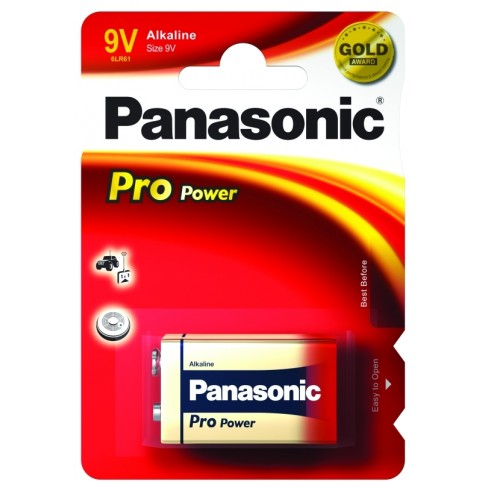 Panasonic Pro Power Gold 6LR61 9V-Block Batterie 1er-Blister