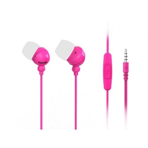 Maxell Plugz+Mic In Ear Ohrhörer mit Mikrofon 3,5mm Klinke pink