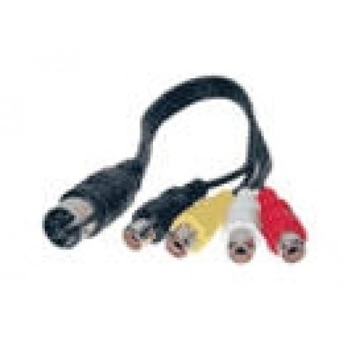 Adapterkabel DIN/4xCinch 0,2m