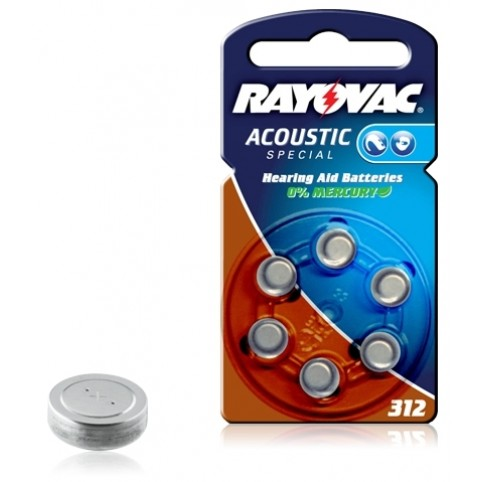 RAYOVAC Hörgerätebatterie 312 Zinc/Luft im 6er Blister