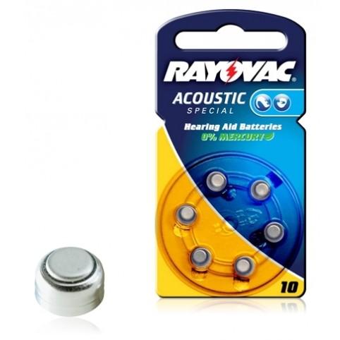 RAYOVAC Hörgerätebatterie 10/PR70 Zinc/Luft im 6er Blister