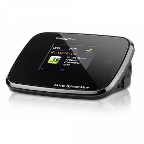 Albrecht DR52BA Digitalradioadapter mit Farbdisplay zum Anschluss an Stereoanlage DAB/DAB+/UKW/Bluetooth