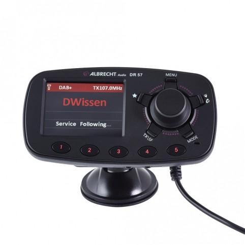 Albrecht DR57 DAB+ Autoradio-Adapter mit Bluetooth