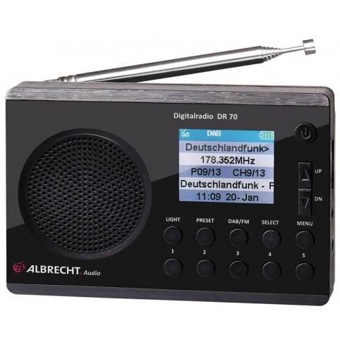 Albrecht Digitalradio DR70 DAB+/UKW Farbdisplay
