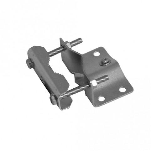 A.S.SAT Stahl-Mastfuß für Rohre bis 60mm verzinkt mit Erdungsklemme verdrehsicher