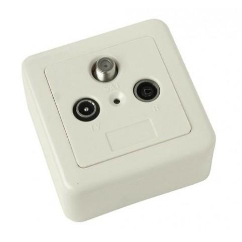 Multimedia-Antennendose Stichleitung