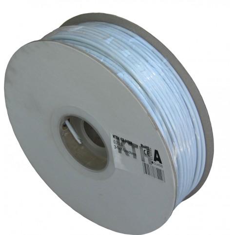 KTH mini-Koaxialkabel 100dB 4,5mm 100m PVC weiß