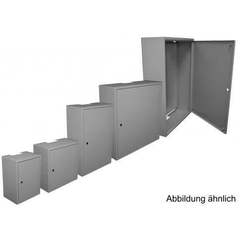 Installationsschrank mit Loch-Metall-Rückwand 300x400 incl. KTH01 Schloss