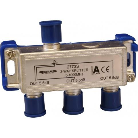BK- Verteiler 5-860 MHz 3-fach, Schirmung