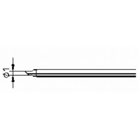 ERSA ERSADUR Lötspitze für Minor S angeschrägt 1,0 mm