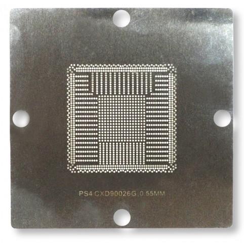 BGA-Schablone, Edelstahl, 90 x 90 mm, für Sony PS4 - CXD90026G