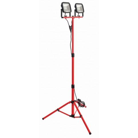 LUCECO 2x22W LED-Arbeitsleuchte Slim Worklight mit Stativ 2x1800Lumen