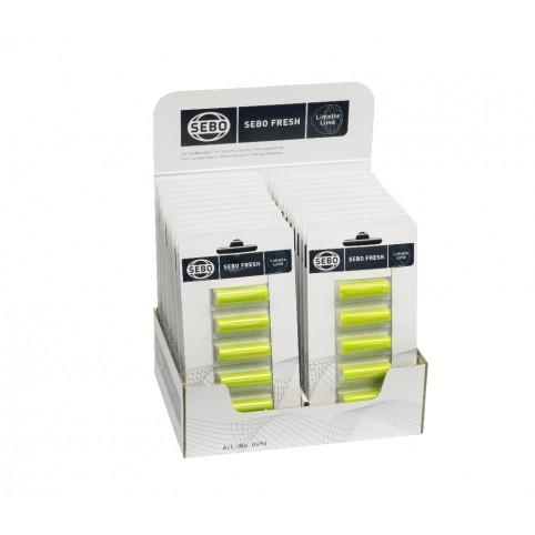 SEBO Fresh Duftstäbchen, Aufsteller mit 22 Karten, Duftnote Limette