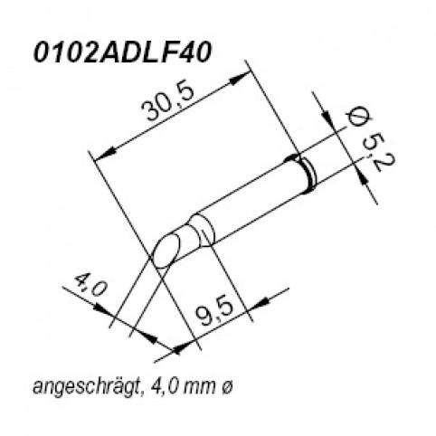 ERSA ERSADUR Lötspitze für i-Tool gerade angeschrägt 4,0 mm