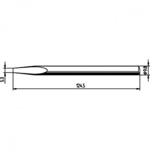 ERSADUR Lötspitze für ERSA 150 S gerade meißelförmig 5,3 mm