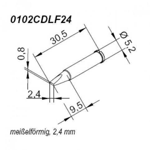 ERSA ERSADUR Lötspitze für i-Tool gerade meißelförmig 2,4 mm