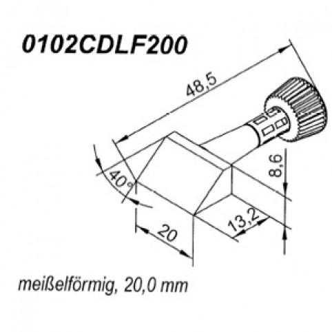 ERSA ERSADUR Lötspitze für i-Tool angeschrägt-keilförmig 20 mm