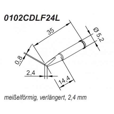 ERSA ERSADUR Lötspitze für i-Tool gerade verlängert meißelförmig 2,4 mm
