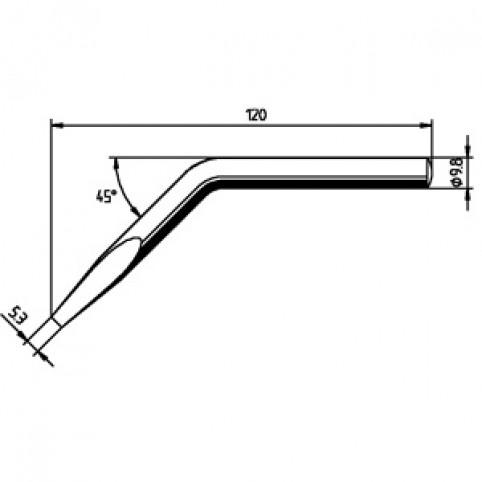 ERSADUR Lötspitze für ERSA 150 S abgewinkelt meißelförmig 5,3 mm