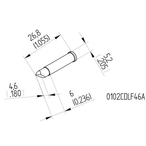 ERSA High-Performance-Lötspitze für i-Tool gerade meißelförmig asymmetrisch 4,6 mm