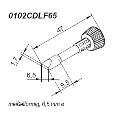 ERSA ERSADUR Lötspitze für i-Tool gerade meißelförmig 6,5 mm