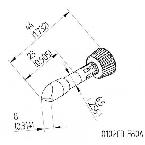 ERSA High-Performance-Lötspitze für i-Tool gerade meißelförmig asymmetrisch 8,0 mm
