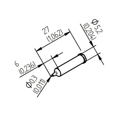 ERSA Lötspitze für i-Tool gerade bleistiftspitz wärmeoptimiert 0,3mm