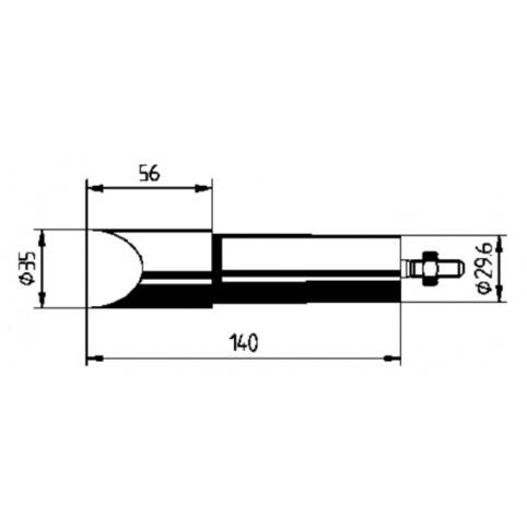 ERSA Lötspitze für ERSA 550 gerade vernickelt meißelförmig 35 mm