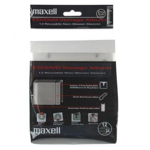 MAXELL CD/DVD Ringbinder (Ordner) + 12 Lochhüllen