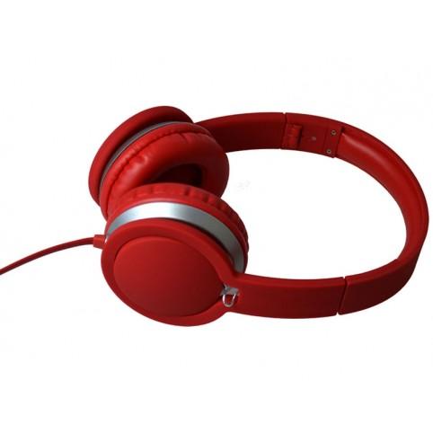 Maxell MXH-HP201 SUPER STYLE Kopfhörer integriertes Mikrofon rot