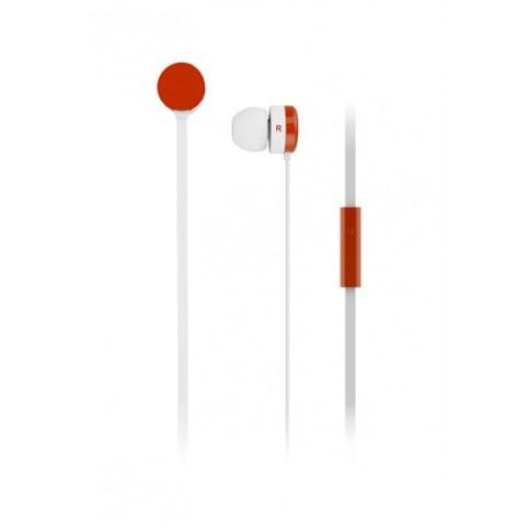 Maxell Ohrhörer Yoyobuds White+Red mit Mikrofon und Case